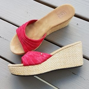 UGG Alvina Red Suede Slides Sandals 10
